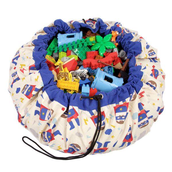 2 в 1: мешок для хранения игрушек и игровой коврик Play & Go. Коллекция Designer супергерой