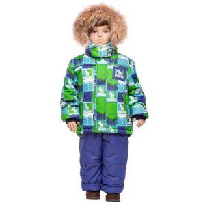 Зимний комплект для мальчика Lapland зеленый 80-98