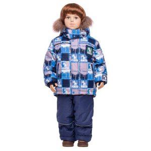 Зимний комплект для мальчика Lapland серый 80-98