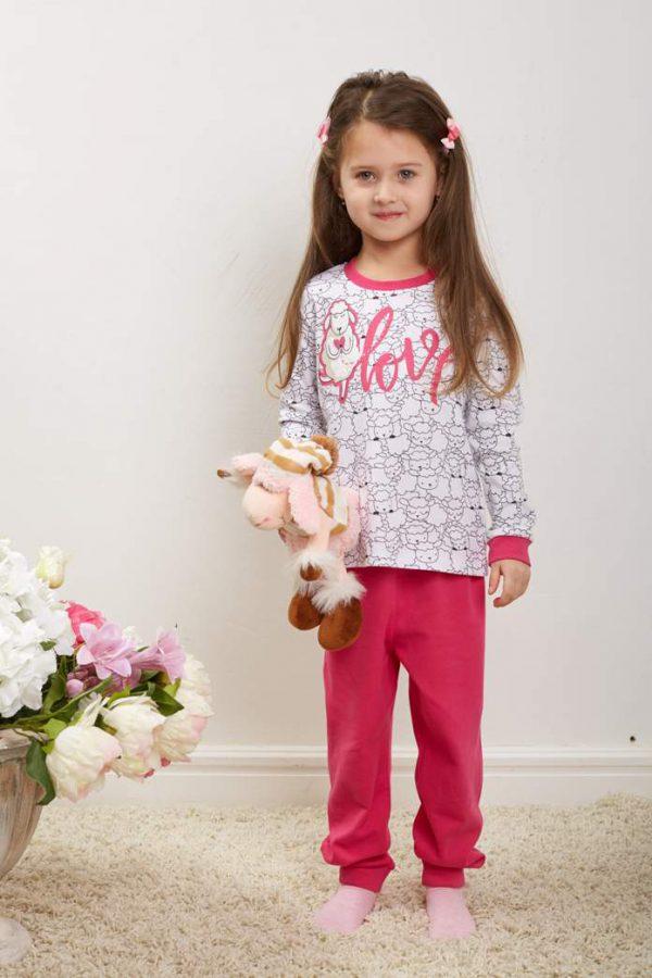 Пижама Овечки малиновая Umka