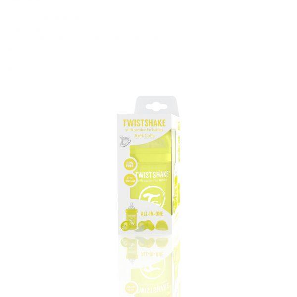 Бутылочка для кормления Twisthake 180 мл. жёлтая