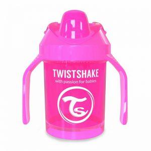 Поильник Twistshake Mini Cup. 230 мл. Розовый. Возраст 4+m
