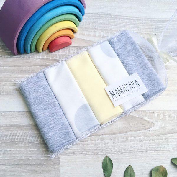 Набор платочков-слюнявчиков MamaPapa Горох серый