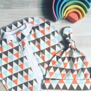 Шапочка MamaPapa Треугольники для мальчика