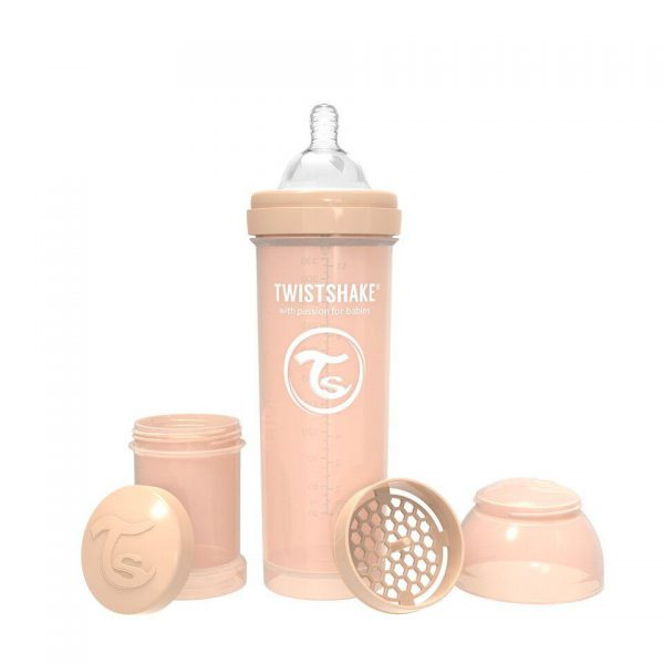Бутылочка для кормления 330 мл. Twistshake пастельный бежевый