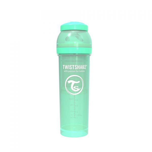 Антиколиковая бутылочка Twistshake для кормления 330 мл. Пастельный зелёный