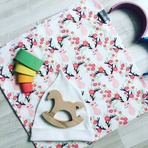 Сет из 2х пеленок MamaPapa Олени в цветах/горошки