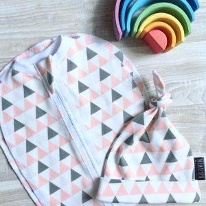 Пеленальный кокон MamaPapa Треугольники для девочки