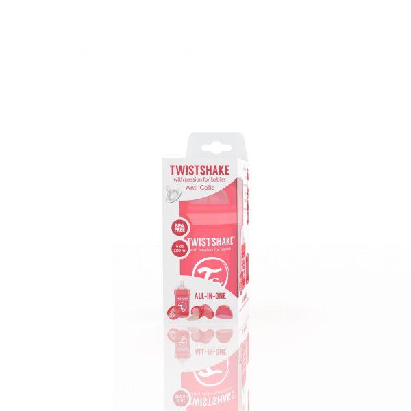 Бутылочка для кормления Twisthake 180 мл. персиковая