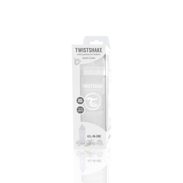 Бутылочка для кормления Twisthake 330 мл. белая