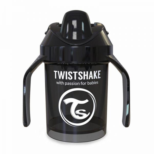 Поильник Twistshake Mini Cup. 230 мл. Чёрный. Возраст 4+m