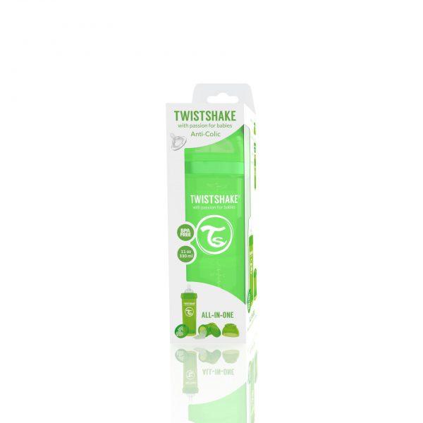 Бутылочка для кормления Twisthake 330 мл. зелёная