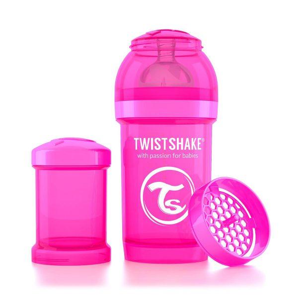 Бутылочка для кормления Twisthake 180 мл. розовая