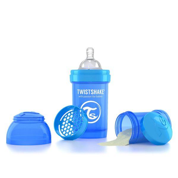 Бутылочка для кормления Twisthake 180 мл. синяя