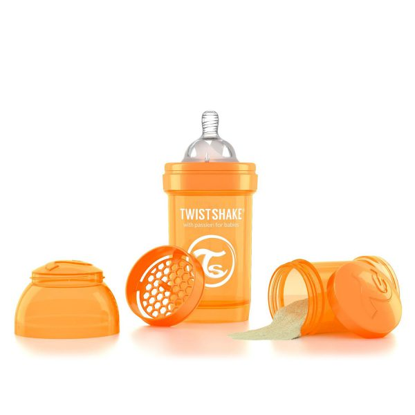 Бутылочка для кормления Twisthake 180 мл. оранжевая