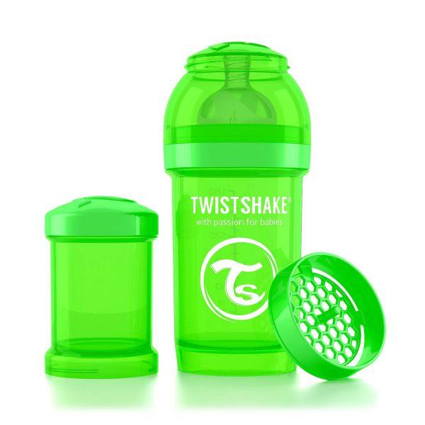 Бутылочка для кормления Twisthake 180 мл. зелёная