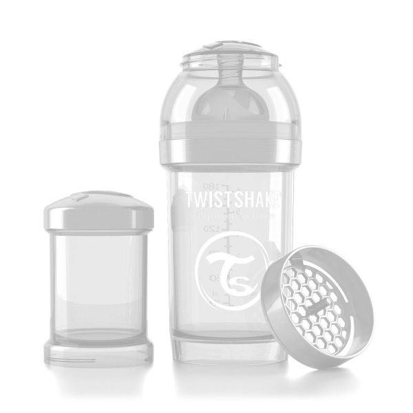 Бутылочка для кормления Twisthake 180 мл. белая