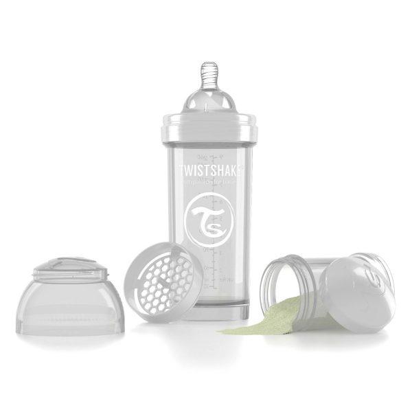 Бутылочка для кормления Twisthake 260 мл. белая