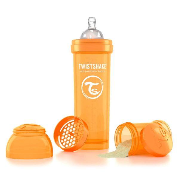 Бутылочка для кормления Twisthake 330 мл. оранжевая