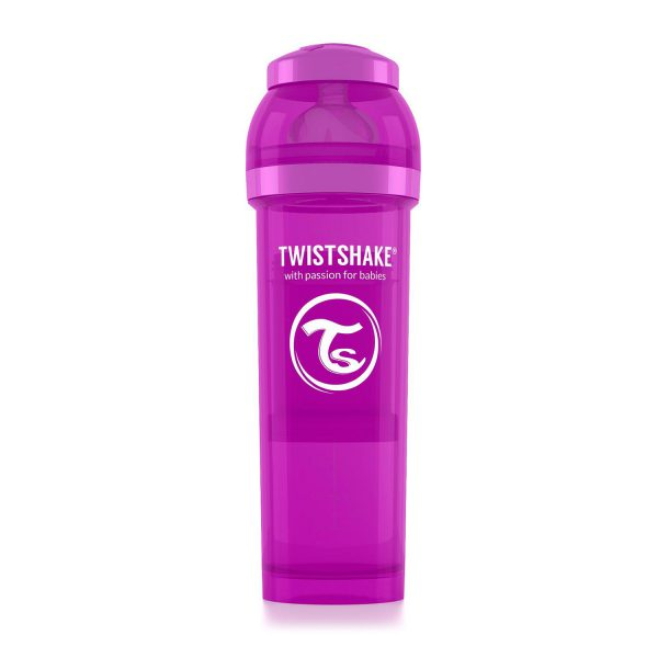 Бутылочка для кормления Twisthake 330 мл. фиолетовая