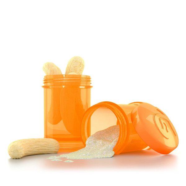 Контейнер для сухой смеси Twisthake 2 шт. 100 мл. Оранжевый Sunbeam