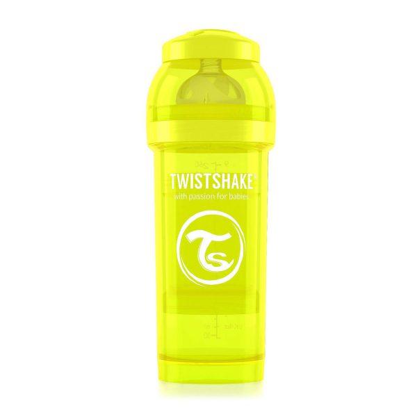 Антиколиковая бутылочка 260 мл. Twisthake для кормления Жёлтая Starlight