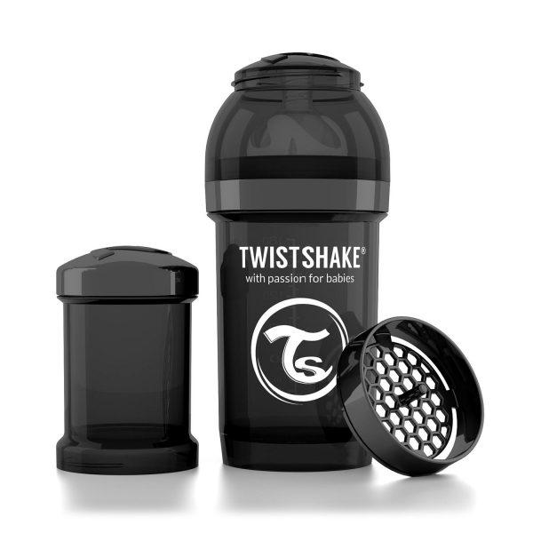 Бутылочка для кормления Twisthake 180 мл. чёрная