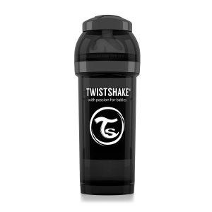 Бутылочка для кормления Twisthake 260 мл. чёрная
