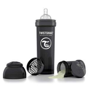 Бутылочка для кормления Twisthake 330 мл. чёрная