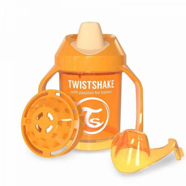 Поильник Twistshake Mini Cup. 230 мл. Оранжевый. Возраст 4+m