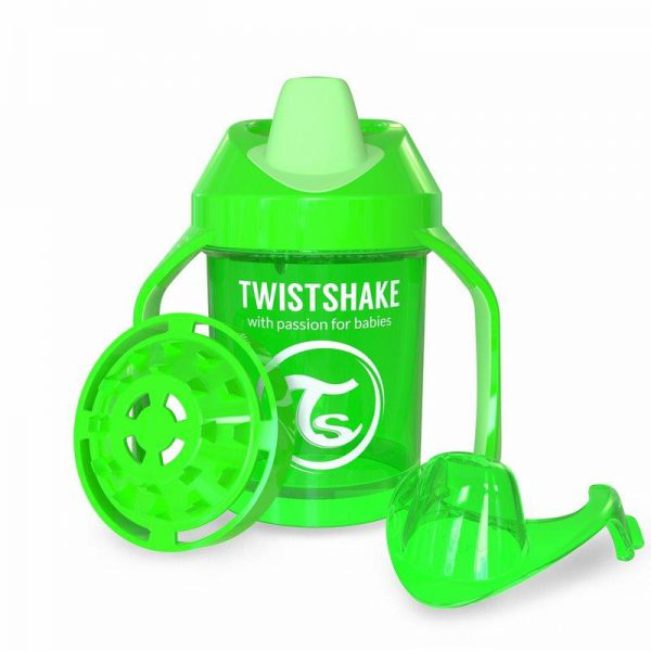 Поильник Twistshake Mini Cup. 230 мл. Зелёный. Возраст 4+m