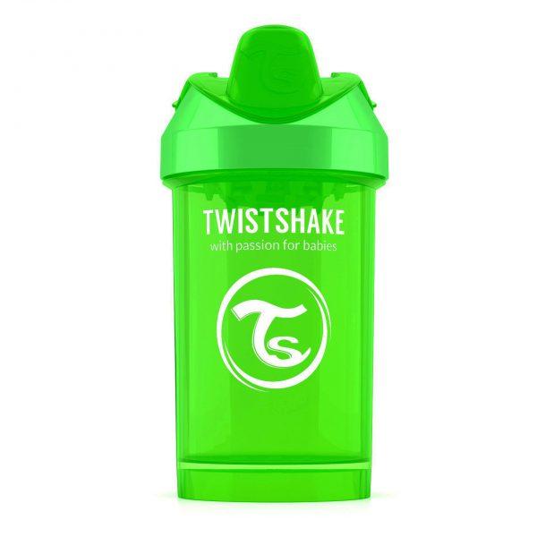 Поильник Twistshake 300 мл. Красавица (зелёный). Возраст 8+m