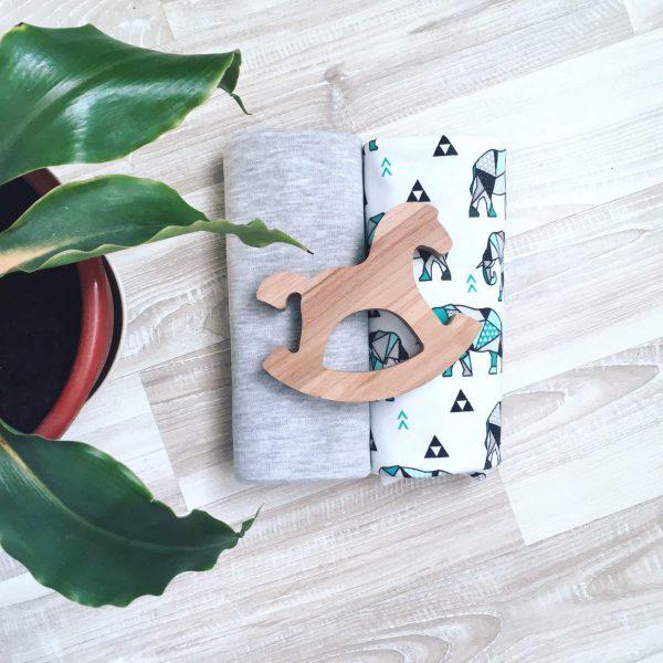 Сет из 2х пеленок MamaPapa Слоники оригами/звезды
