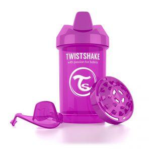 Поильник Twistshake 300 мл. Лучший друг (фиолетовый). Возраст 8+m