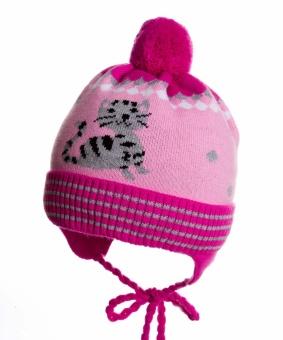 Шапка детская ЧУДО КРОХА Cz-37, цвет: Розовый