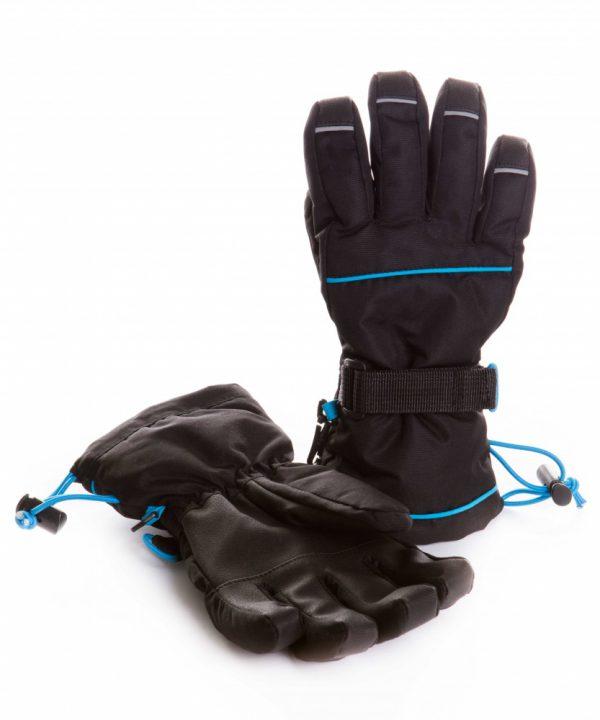 Перчатки ЧУДО КРОХА G-16, цвет: Черный -бирюзовый