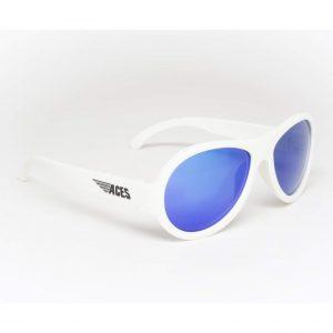 Солнцезащитные очки Babiators Шаловливый белый синие линзы 6-12 лет