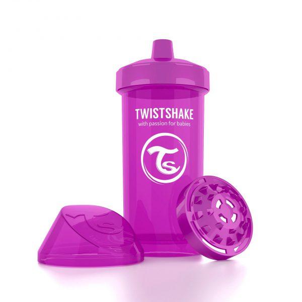 Поильник Twistshake 360 мл. Лучший друг (фиолетовый). Возраст 12+m
