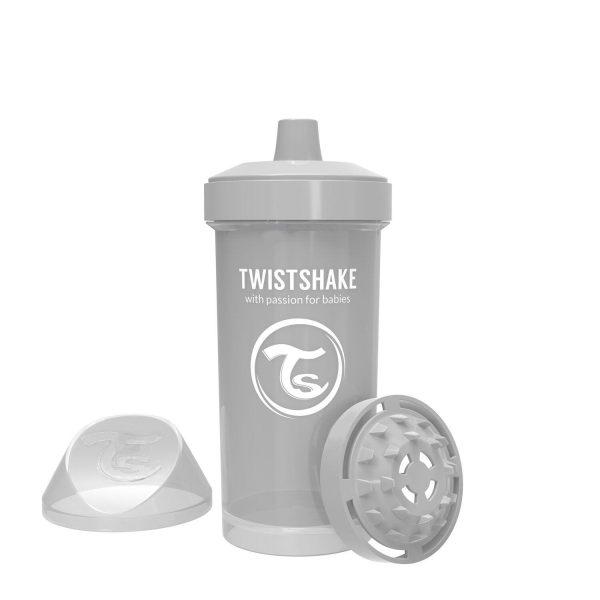 Поильник Twistshake 360 мл. Пастельный серый Возраст 12+m