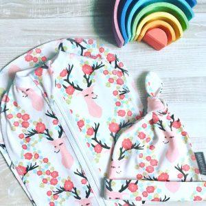 Пеленальный кокон MamaPapa Олени с цветами