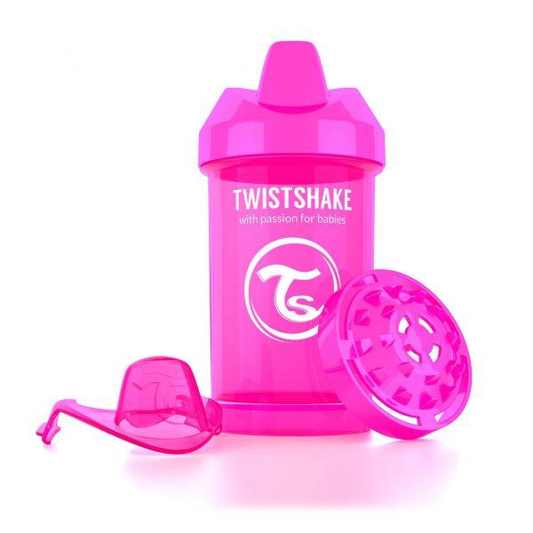 Поильник Twistshake 300 мл. Сумасшедшая обезьянка (розовый). Возраст 8+m