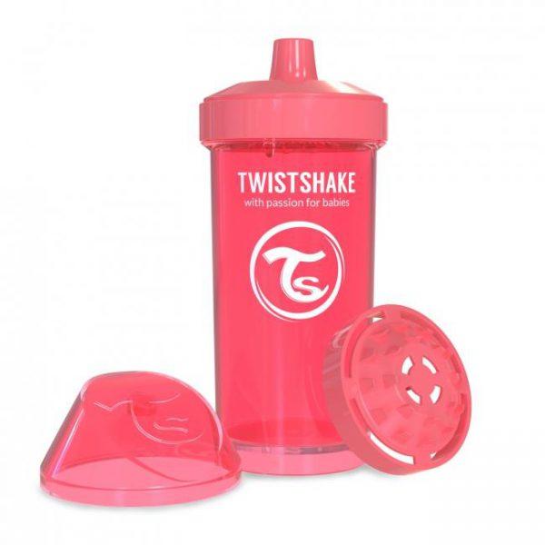 Поильник Twistshake 360 мл. Ловец снов (персиковый). Возраст 12+m
