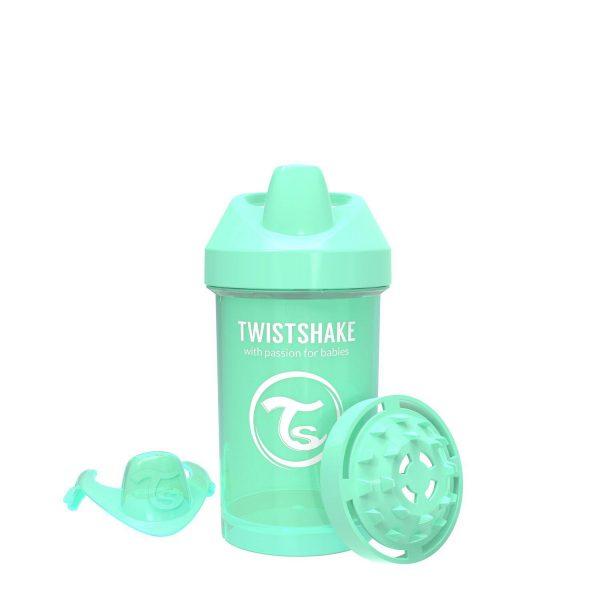 Поильник Twistshake 300 мл. Пастельный зелёный Возраст 8+m