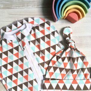 Пеленальный кокон MamaPapa Треугольники для мальчика
