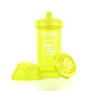 Поильник Twistshake 360 мл. Звёздное сияние (жёлтый). Возраст 12+m