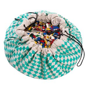 2 в 1: мешок для хранения игрушек и игровой коврик Play & Go. Коллекция Print Зелёный бриллиант