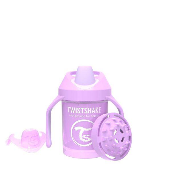 Поильник Twistshake Mini Cup. 230 мл. Пастельный фиолетовый. Возраст 4+m.