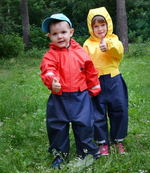 Комбинезон непромокаемый Спец-детка голубой с синим