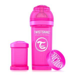 Бутылочка для кормления Twisthake 260 мл. розовая