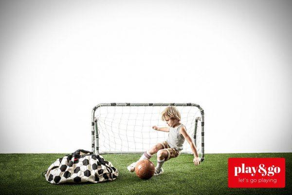 2 в 1 мешок для хранения игрушек и игровой коврик Play & Go. Коллекция Print Футбол